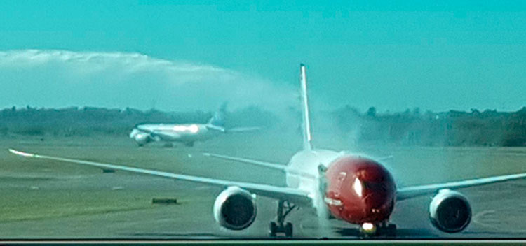 Bautismo del avión de Norwegian