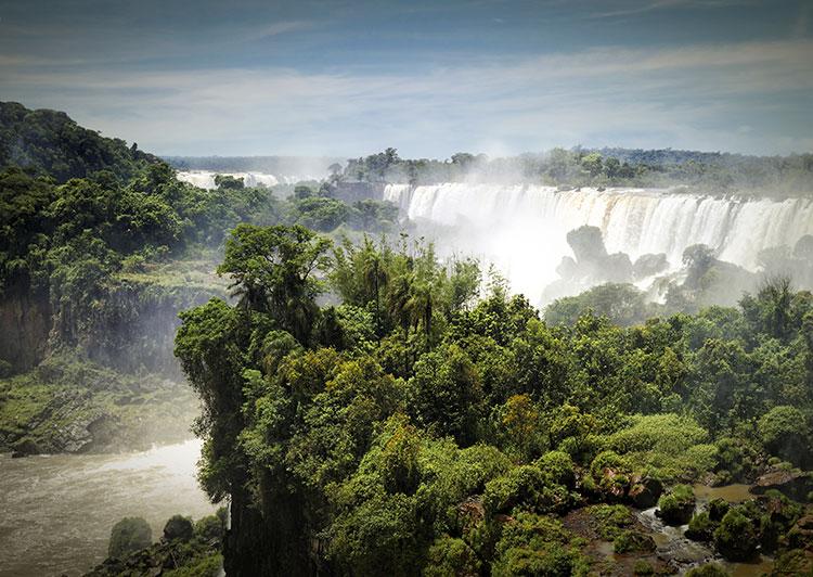 Vista de las cataratas del iguazú