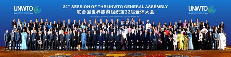 Los representantes de todos los países durante la Asamblea de la OMT